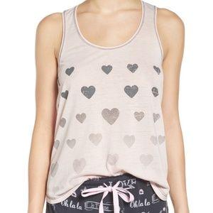 P.J. Salvage Heart Print Burnout Pajama Tank Top